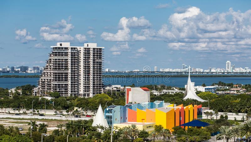 Colorful Miami Architecture stock photo