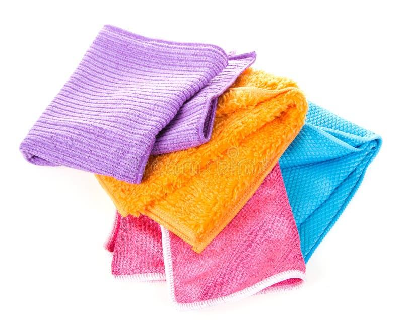 Colorful Microfiber Cloths Stock Photos