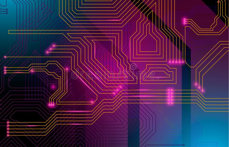Colorful microscheme design. Vector micro chip stock image