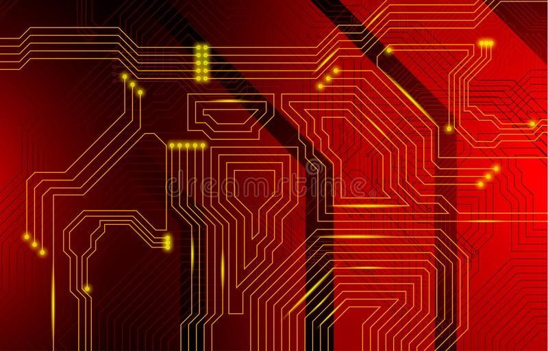 Colorful microscheme design. Vector micro chip royalty free stock images
