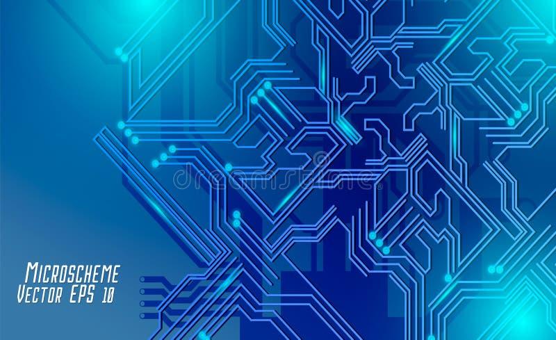 Colorful microscheme design. Vector micro chip royalty free stock photos