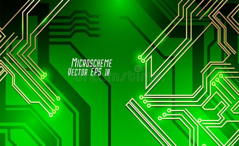 Colorful microscheme design. Vector micro chip stock photos