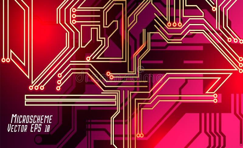 Colorful microscheme design. Vector micro chip stock photo