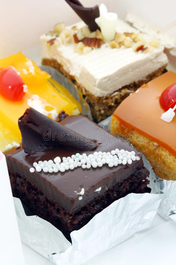 Colorful mini cake. stock image