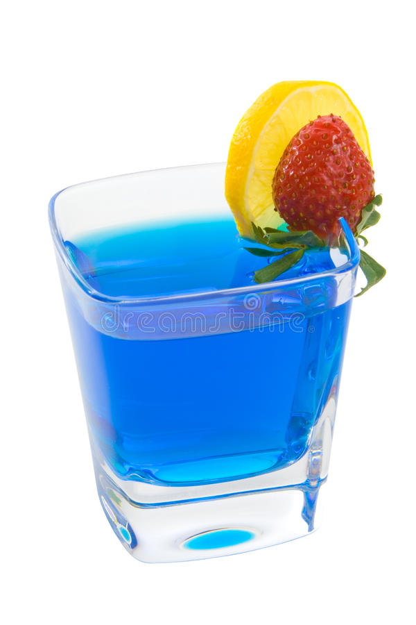 Colorful Mixed Drink Blue royalty free stock photos