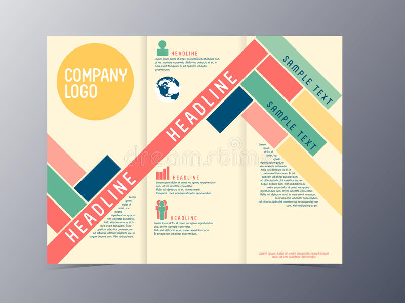 Colorful modern design brochure template vector stock for Product brochure template