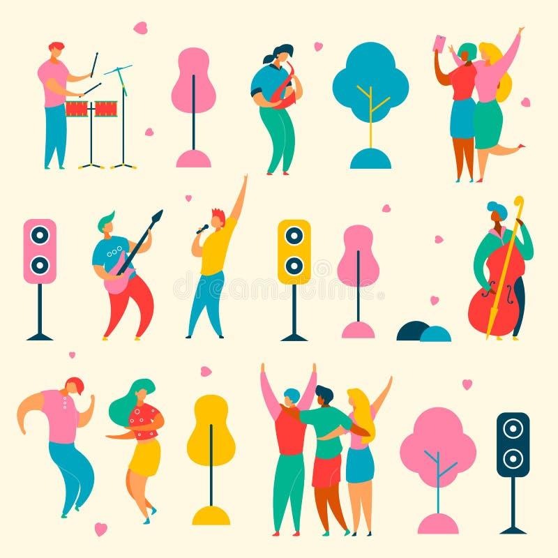 Music fest set royalty free illustration