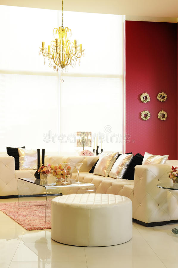 Colorful, modern living room 04 royalty free stock photos