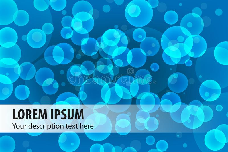 Colorful modern style abstract graphic background composition with bubbles vector illustration