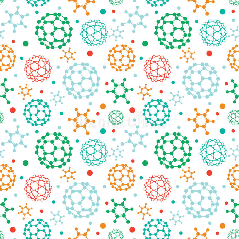 Download Colorful Molecules Seamless Pattern Background Stock Vector - Image: 33752990