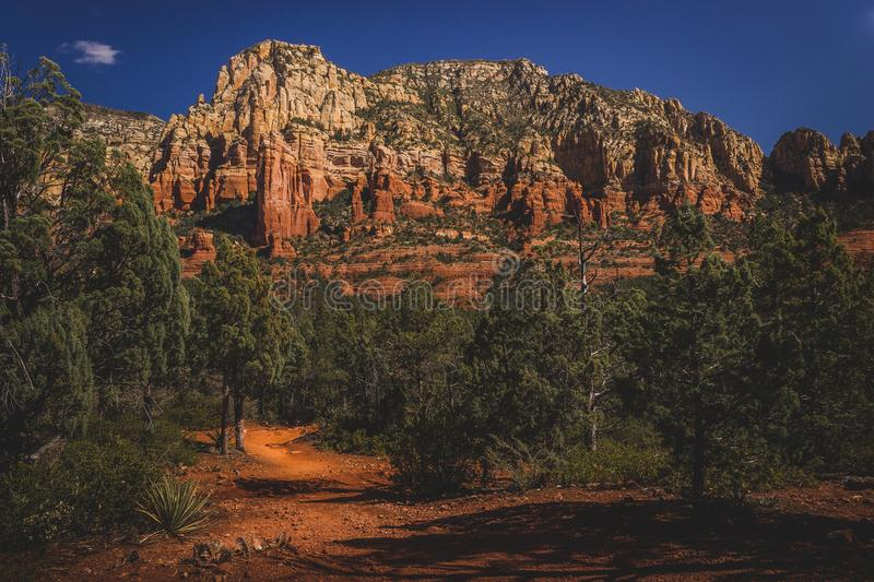 Mormon Canyon. Colorful Mormon Canyon viewed from along the Brins Mesa Trail on a clear, sunny day in the Coconino National Forest, Arizona royalty free stock images