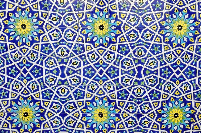 Colorful moroccan mosaic wall royalty free stock image