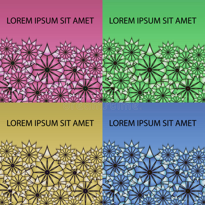 Colorful Moroccan tiles ornaments. Can be used for wallpaper, pattern fills, web page background, surface textures. Vector illustration royalty free illustration