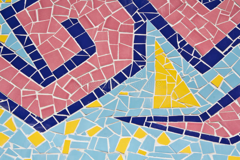 Colorful of Mosaic tiles. On the wall stock image