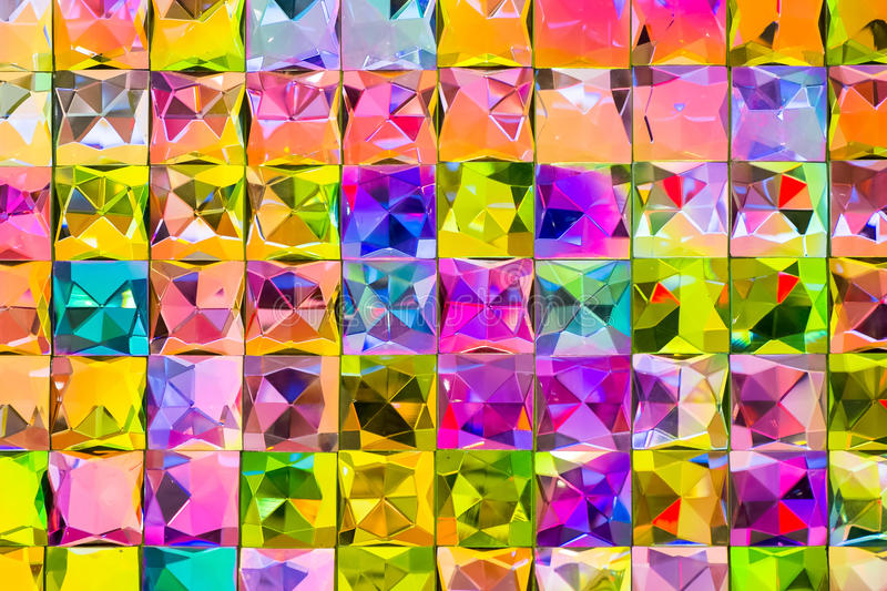 Colorful Mosaic. Wall in tiles royalty free stock photography