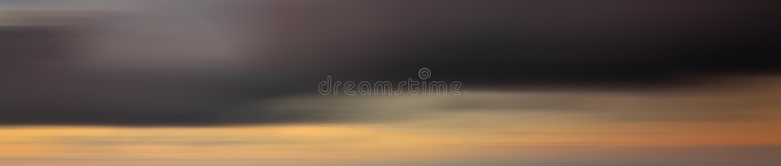 Colorful motion blur effect of sunset for background stock photography