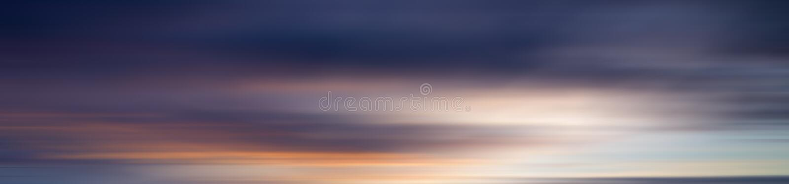 Colorful motion blur effect of sunset for background stock image