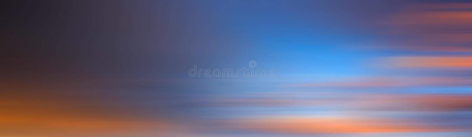 Colorful motion blur effect of sunset for background stock images