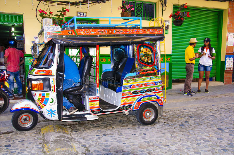 Download Colorful Mototaxi In Guatape Editorial Stock Image - Image: 83721904