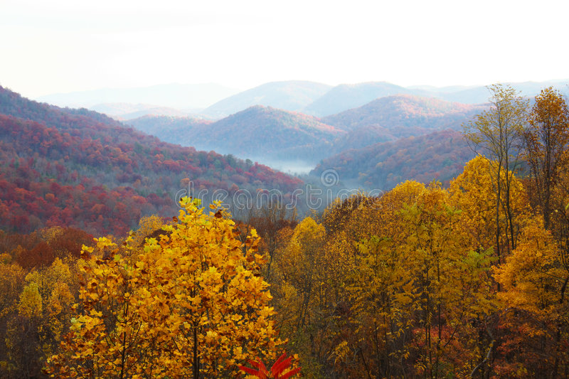 Download Colorful Mountain Landscapes With Fog Stock Image - Image: 3739759
