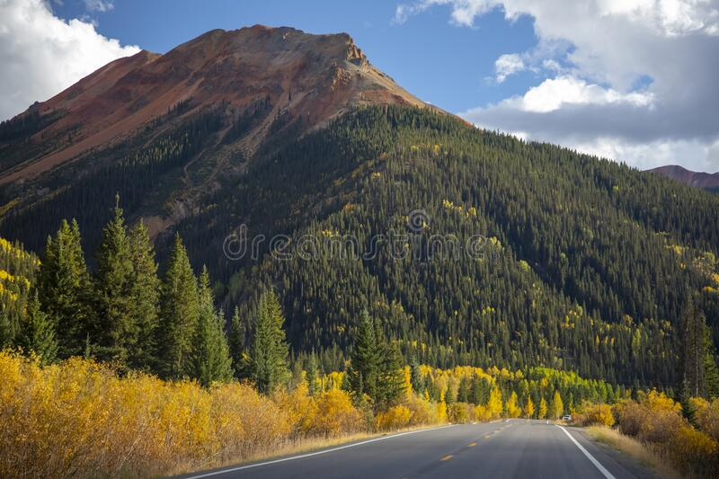 Colorful Mountain Road stock photography