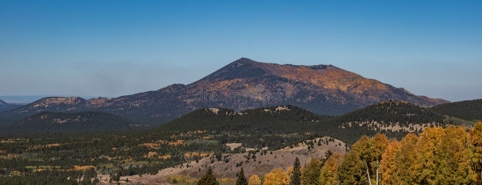 Colorful mountain view in autumn stock photos