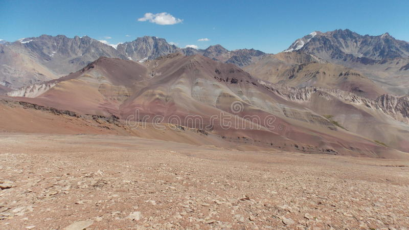 Colorful mountains royalty free stock photos