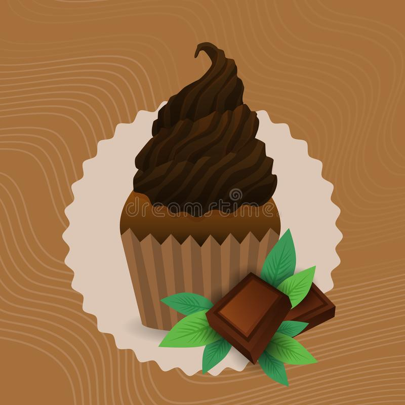 Colorful Muffin Cake Sweet Beautiful Cupcake Dessert Delicious Food royalty free illustration
