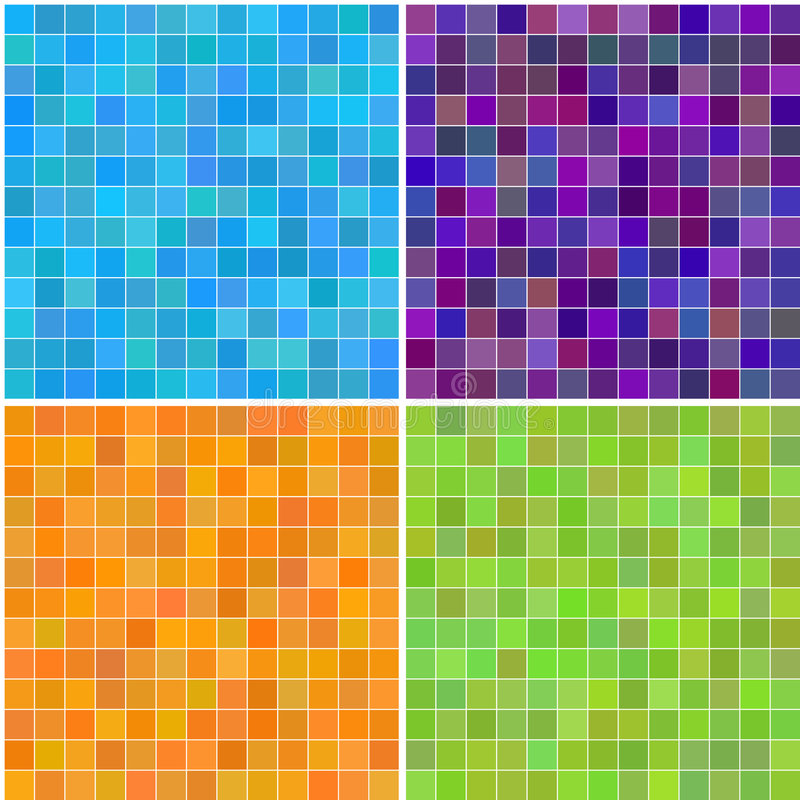 Colorful multi color seamless square tiles stock illustration