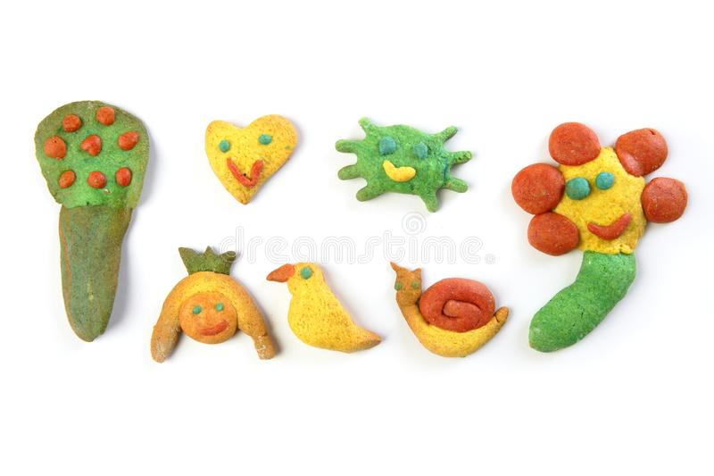Download Colorful Multicolor Funny Biscuits Shapes Stock Photo - Image: 14442434