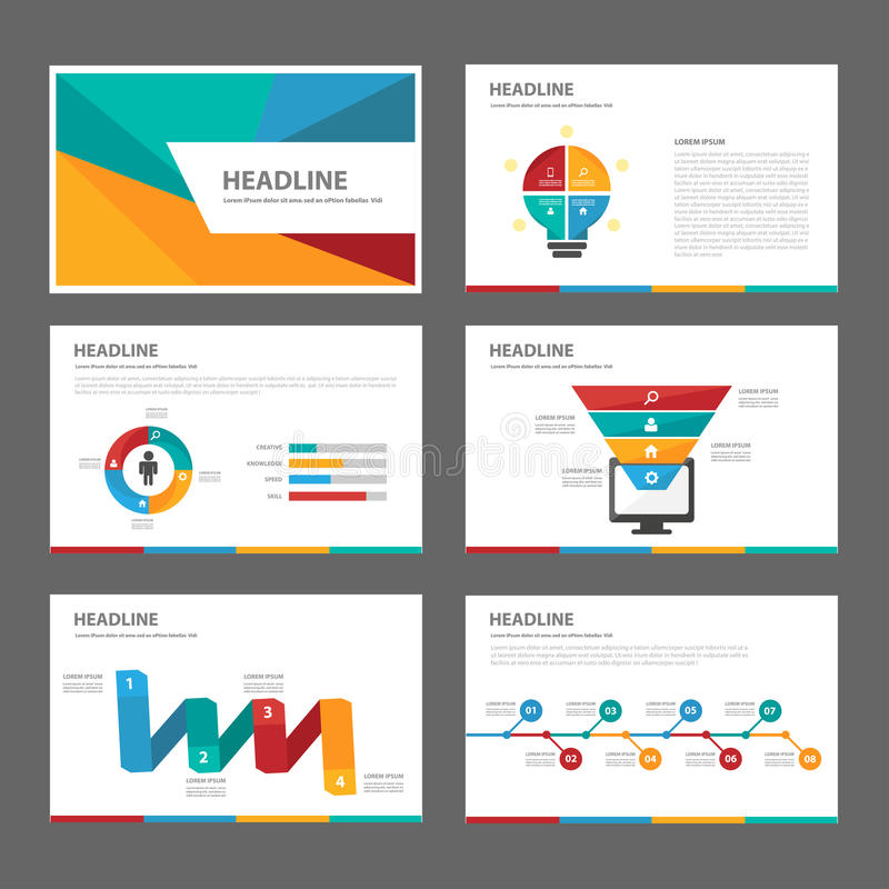 Colorful Multipurpose Brochure Flyer Leaflet Website Template Flat ...