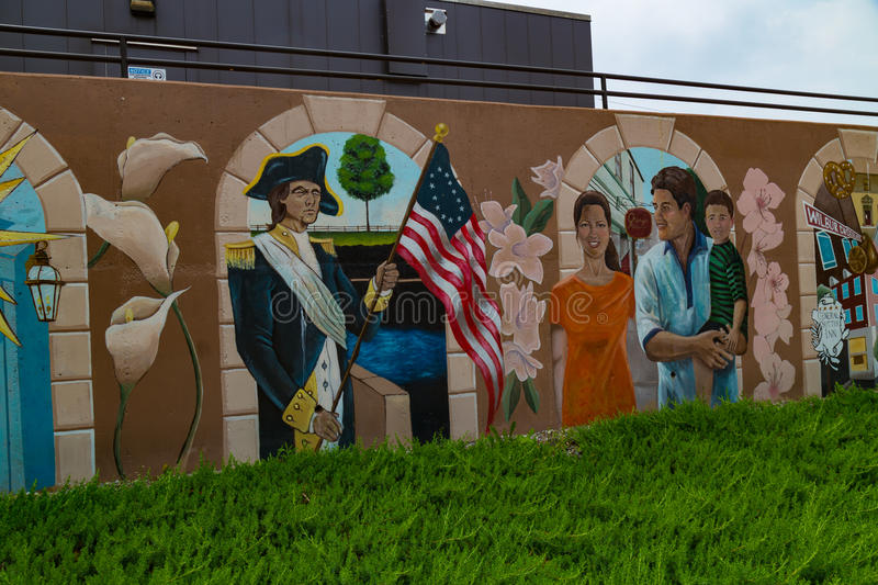 Colorful Mural at BB&T University royalty free stock photography