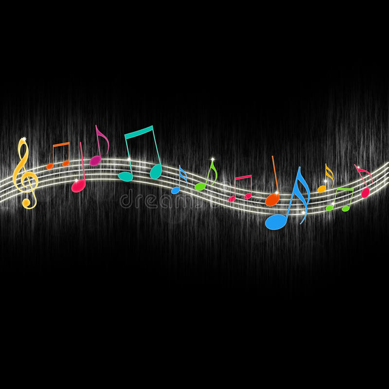 Free Colorful Music Notes Stock Photography - 14474062