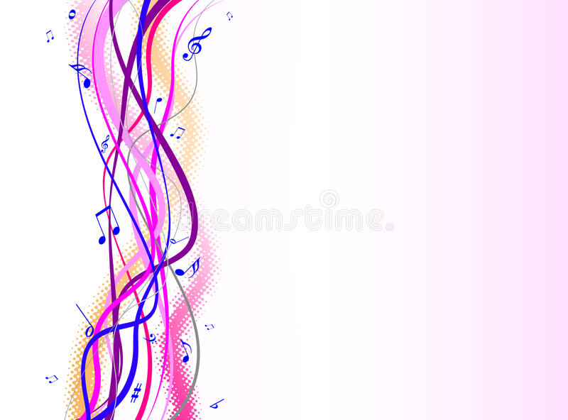 Download Colorful music notes stock vector. Image of line, greeting - 18778578