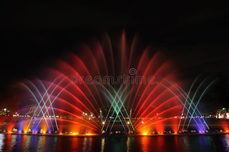 Download Colorful musical fountains stock image. Image of bright - 28670833