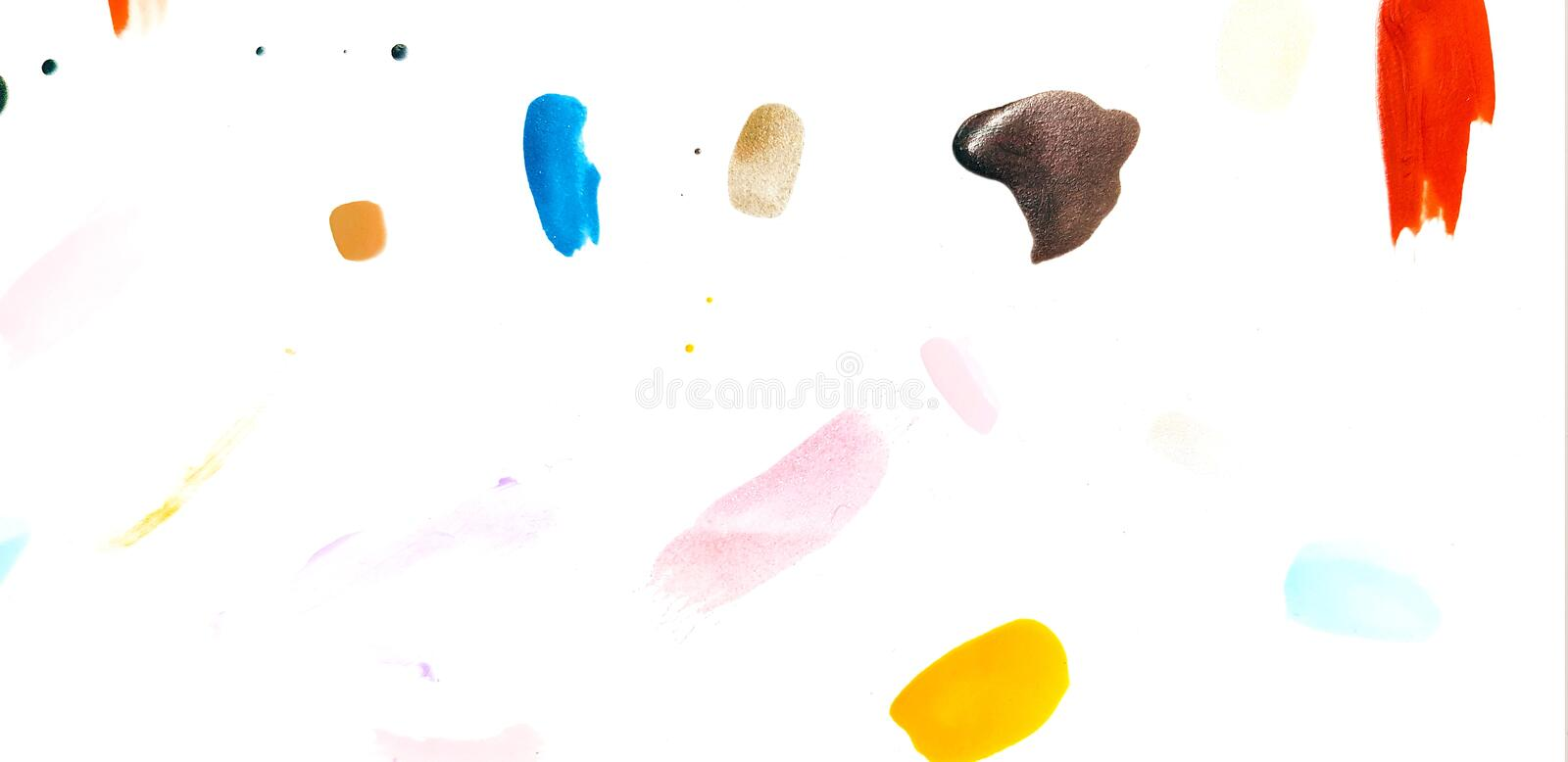 Colorful of nail polish painted stock photo