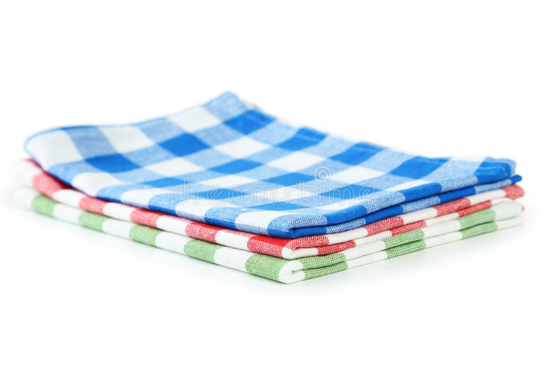 Colorful napkins stock photos
