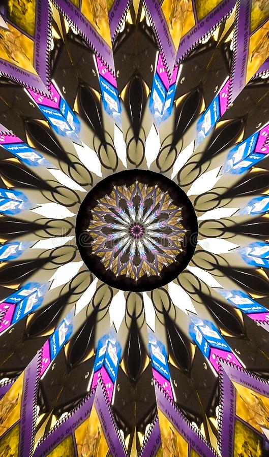 Colorful Native American Look Tapestry Kaleidoscope royalty free stock images
