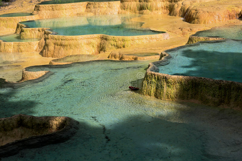 Colorful natural pools royalty free stock images