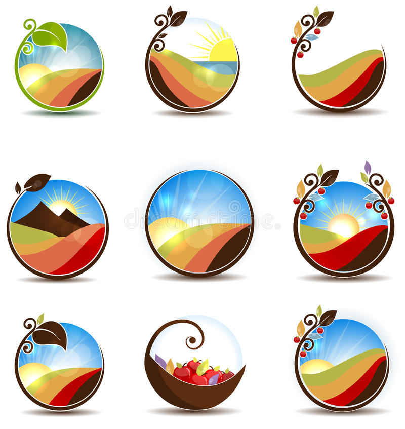 Colorful nature vector illustration