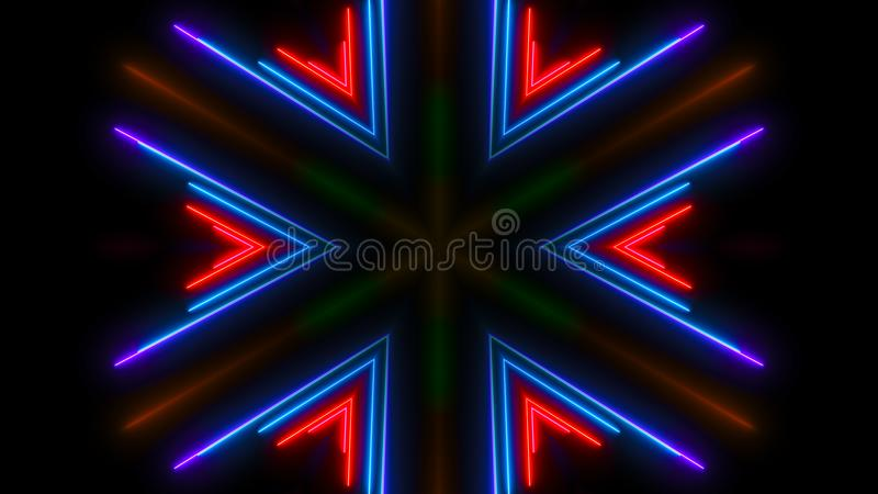 Colorful neon light. Abstract digital backdrop stock photo