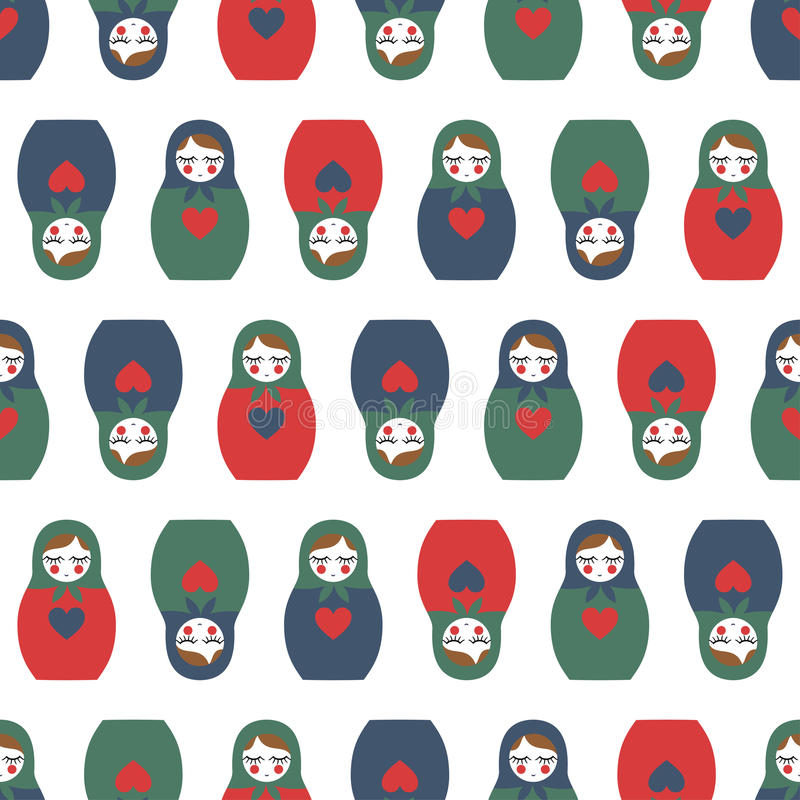Free Colorful Nested Doll Seamless Pattern. Stock Photo - 65106160