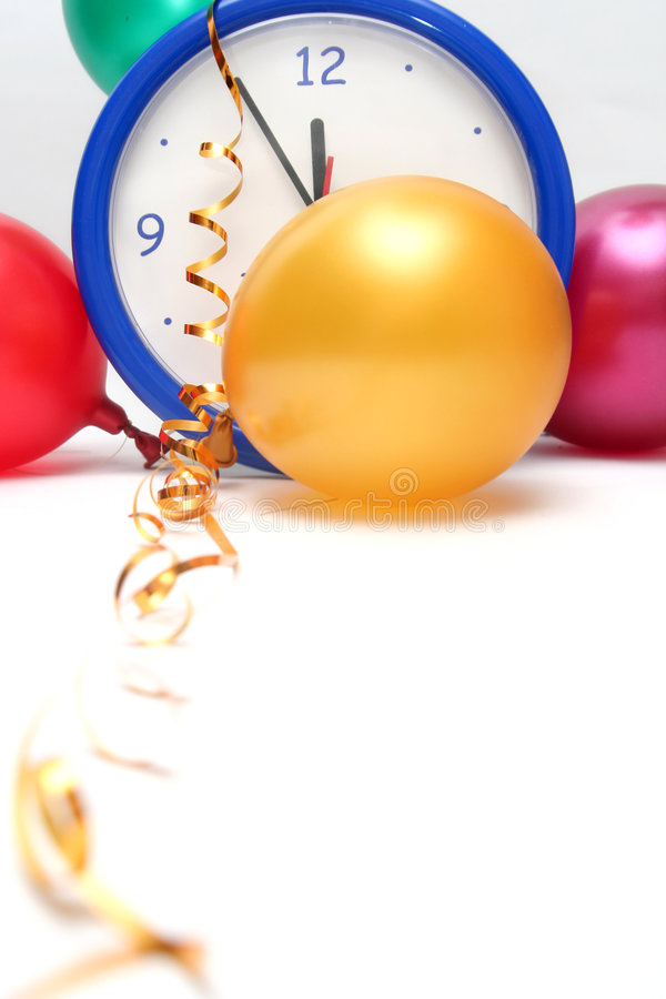 Colorful New Years Eve royalty free stock photography