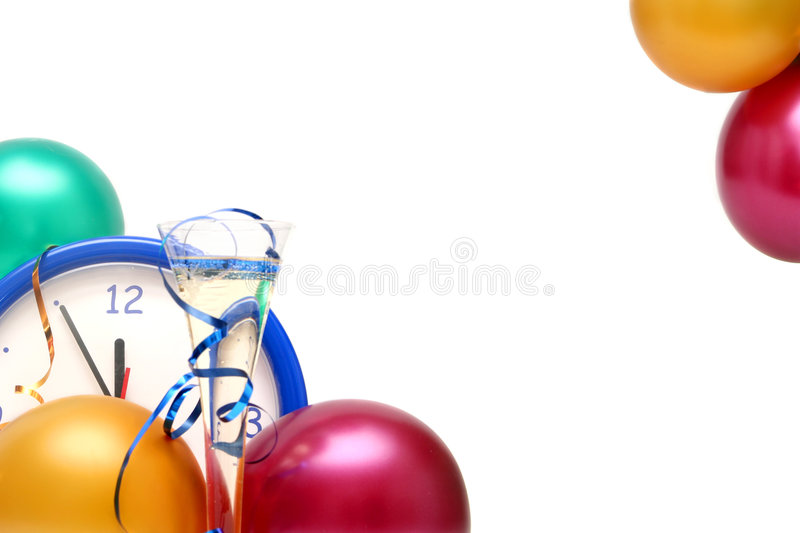Colorful New Years Eve stock photography