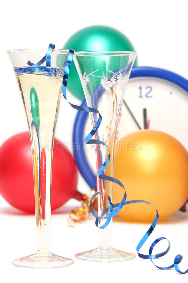Colorful New Years Eve royalty free stock images