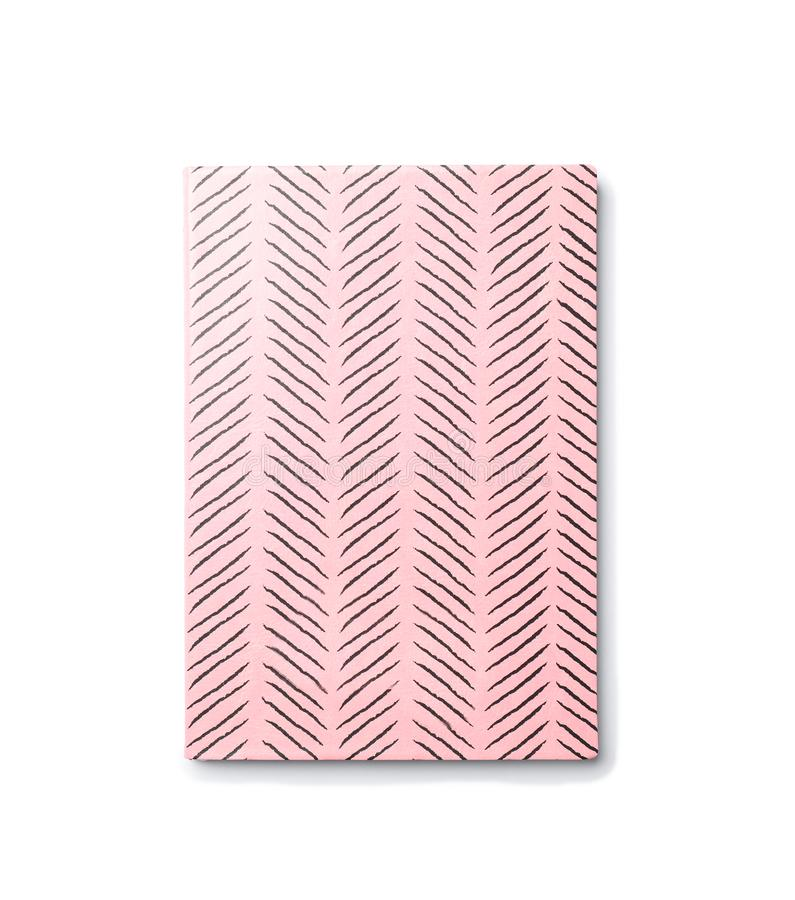 Colorful notebook on white background. School stationery royalty free stock photo