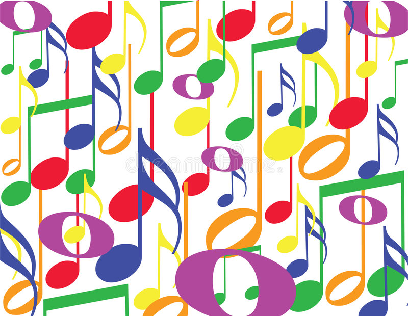 Download Colorful notes stock vector. Image of musical, melody - 9031664