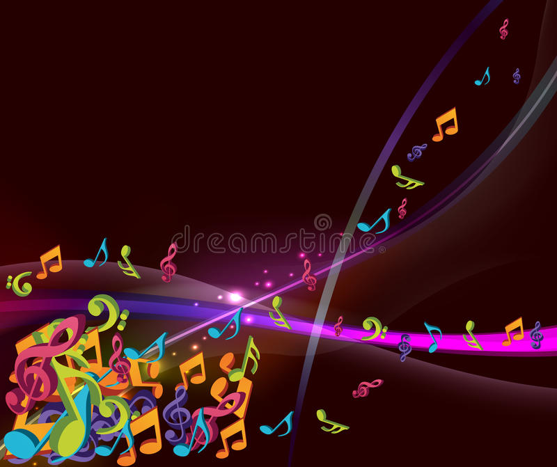 Colorful notes illustration royalty free stock image