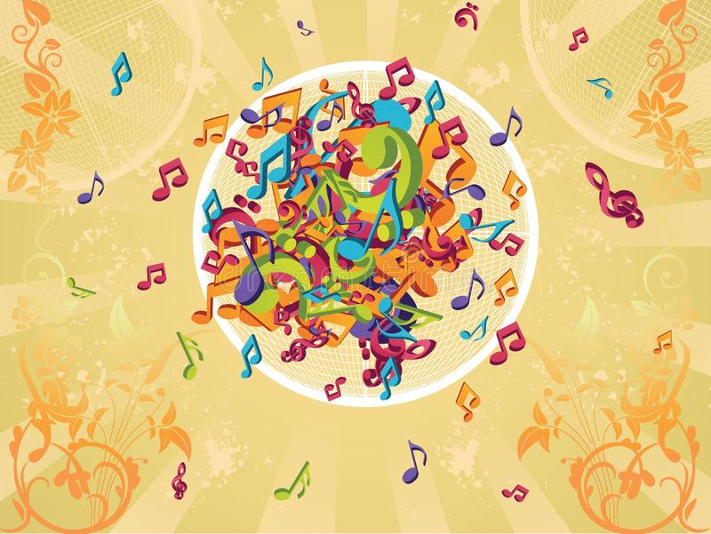 Colorful notes illustration royalty free stock photography