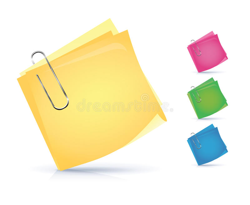 Colorful Notice Papers Royalty Free Stock Images